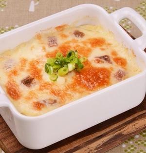 お豆腐クリームのアンチョビグラタン