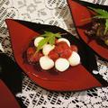 【あき流白玉団子3種のご紹介です♪】杜中茶団子も苺ソースと餡子も有るよ^^