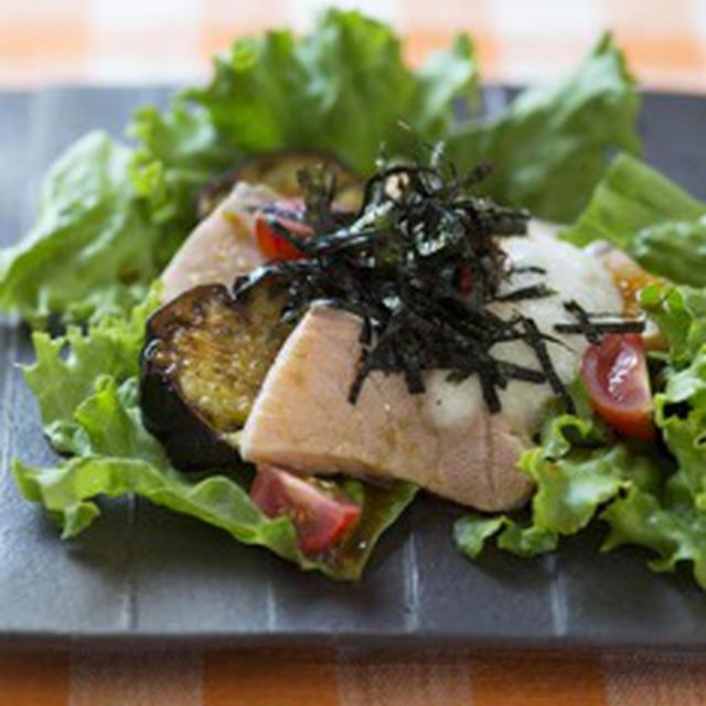 湯引き魚のサラダ仕立て