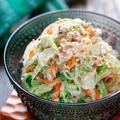 白菜と春雨のごまマヨサラダ【#作り置き #簡単 #節約 #やみつき #湯かけ #副菜】