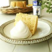 バニラと白練りごまのシフォンケーキ&白ごまとメープルシロップのクリーム