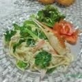 緑黄色野菜で免疫力UP~プチヴェールとカニのクリームパスタ♪