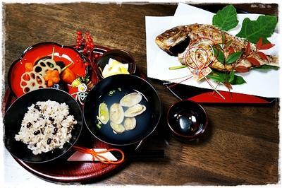 ■お食い初めのお料理を作ったよ~♪.+:。ヾ(o・ω・)ノ゚.+:。■