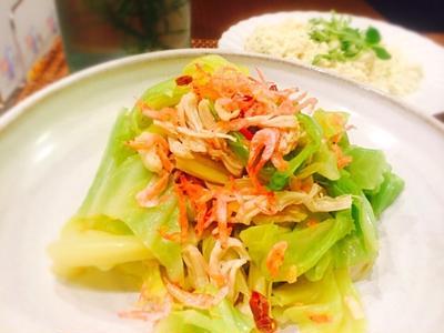 タイ風茹でキャベツチキンサラダ&息子が大好きな時短豆腐レシピ