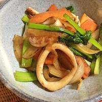 イカと野菜のバター醤油炒め