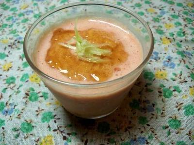 8月その5 トマトと豆乳のムースのっけてジュレとオムライス