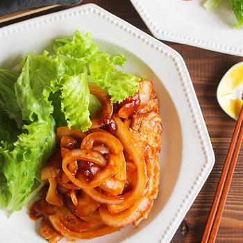 【レシピ】豚肉のチリソースソテー。(←10分レシピ)