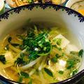 もやしと豆苗の中華スープ