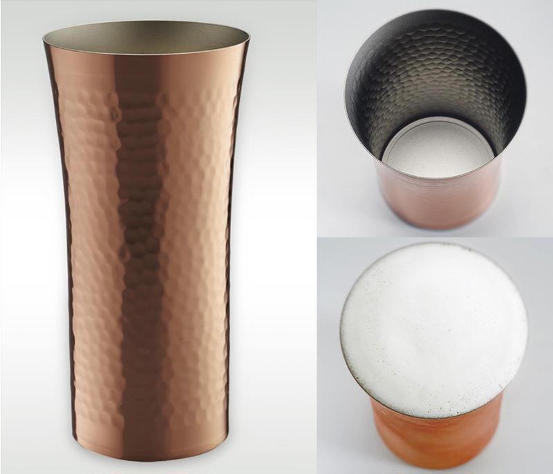 ビールはやっぱり冷え冷えに限る!という方は、ひとつは持っておきたい銅製のグラス。冷えたビールを注げば...
