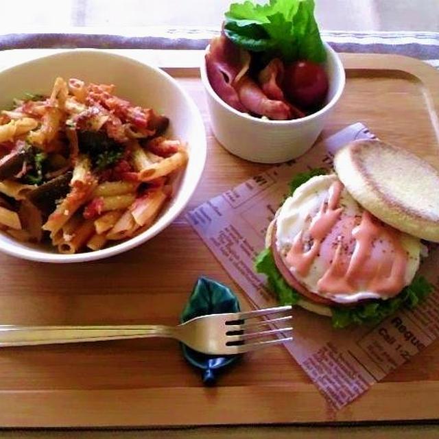 【レシピ】イングリッシュマフィンとペンネdeワンプレート