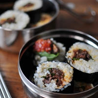 牛肉と紫蘇のサムジャンキムパプ