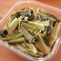 ホットクックで副菜調理。 小松菜のめんつゆおひたし (とその間に作るかぼちゃのバルサミコグリル)