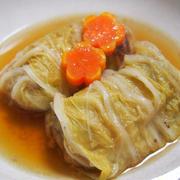 コンソメスープのロール白菜