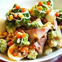 【簡単!】クリスマスにピッタリ♪ロマネスコの切り方と茹で方*ロマネスコと玉子のデリ風サラダ