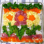 春のお祝いに お花畑のちらし寿司