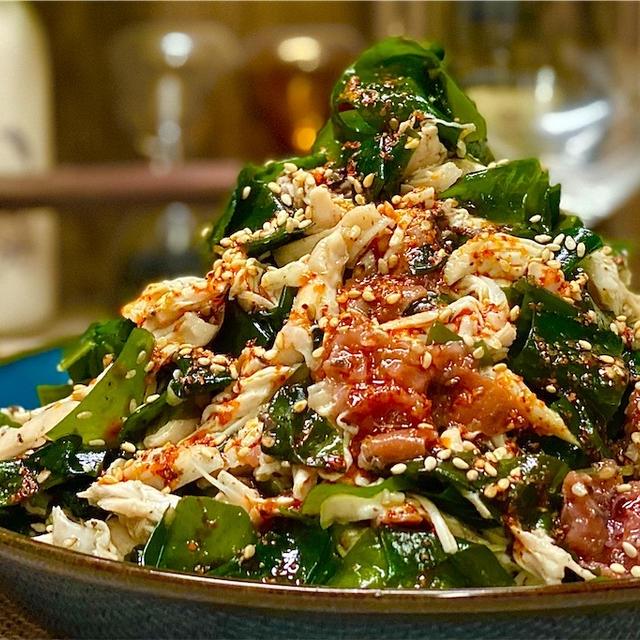 【レシピ】わかめとささみのやみつき梅肉サラダ