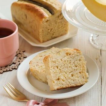 パンケーキミックスで簡単!米粉バナナパウンドケーキ