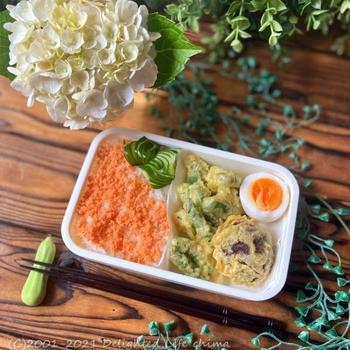 インゲンの天ぷら弁当