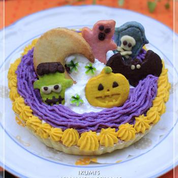 ココ一滴! 紫芋と南瓜のモンブランタルト