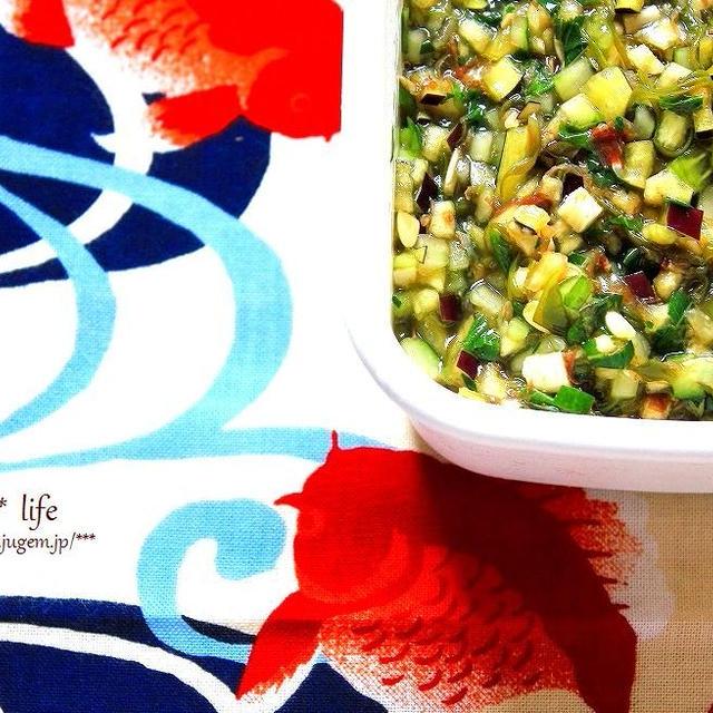 収穫野菜はシンプルに味付け