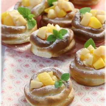 【レシピ】桃のフロマージュパン。 と 天気の子