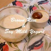 美腸美人のために!玄米でできる乳酸菌がいっぱい豆乳ヨーグルト種菌☆ナチュラルダイエット・レシピ