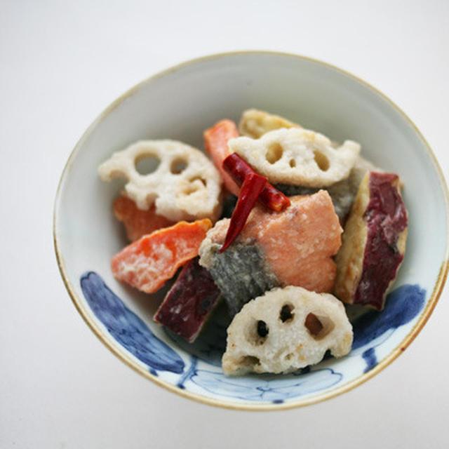 鮭と根菜の南蛮漬け