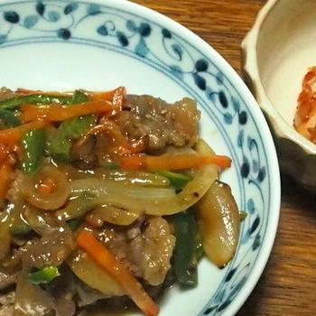 味付け肉でプルコギ風焼き肉