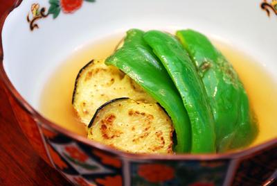 茄子とピーマンの含め煮
