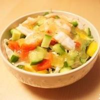 ハウスのっけてジュレ 海老とカラフル野菜のジュレサラダ