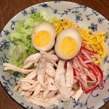 常備菜で冷やし中華