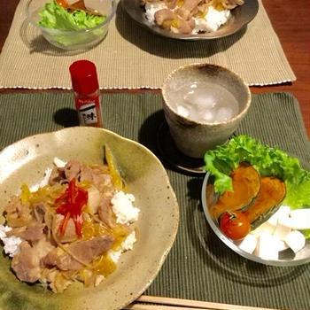 なんとなく生姜焼丼