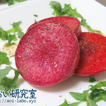 料理日記 77 / 赤かぶのレモンペッパーソテー