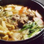 ★ミツカン 追いがつおつゆ2倍 de 生姜肉団子鍋 作ってみましたぁ♪