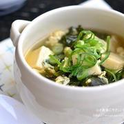 【筋肉・節約レシピ】高野豆腐とわかめのかきたまスープ