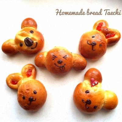 子供が喜ぶ動物パン♪