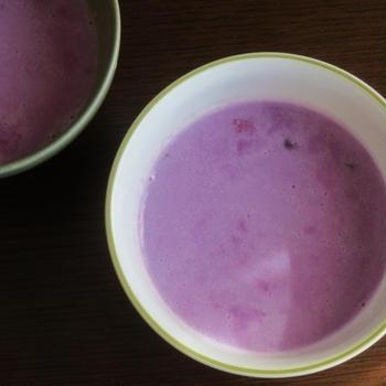 紫のポタージュ、そして、アマトリチャーナ