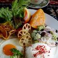 ■簡単!!10分!!【カフェ風 目玉焼きワンプレート朝ご飯】です♪