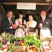 フランス大使館で夕食会「福島の食材を使ったフレンチの夕べ」へ