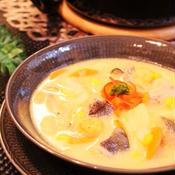 生タラとシーフードミックス・たっぷり野菜のサフラン煮