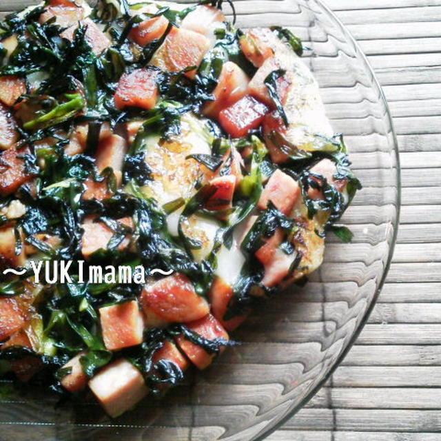 くらしのアンテナ掲載★「スパムで作るごちそうメニュー」~スパムとにらの美味しいお餅~