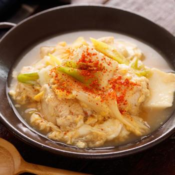 《プレゼントあり》鶏たま肉豆腐【#正月太りを解消 #簡単 #節約 #ヘルシー #鶏むね肉 #主菜 #PR】