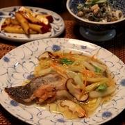 カレイの揚げ焼き、野菜あんかけ。晩ごはん。