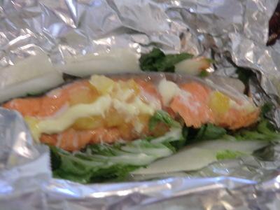 塩ゆずで♪鮭の簡単ホイル焼き♪