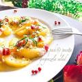 桃とパンチェッタのアイシングブルーチーズのせサラダ♪