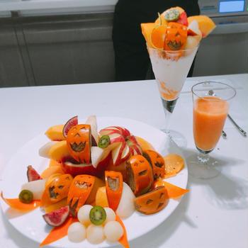 新宿高野フルーツカット教室ハロウィン