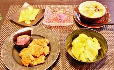 昨日の晩ご飯 「速攻で煮る❀生鮭の簡単クリームスープ❀」 など