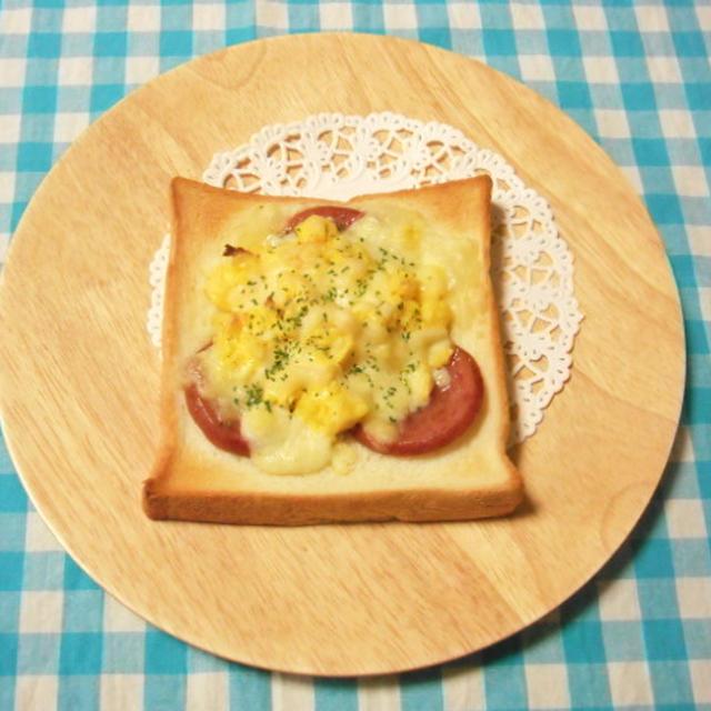 続々・シフォン研究★カルボナーラ風チーズたっぷりトースト