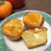 柿と林檎の爽やかバターケーキ