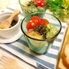 香味野菜と彩り野菜のさっぱりヘルシーコロコロ豆腐カップサラダ